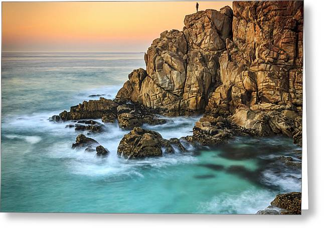 Penencia Point Galicia Spain Greeting Card by Pablo Avanzini