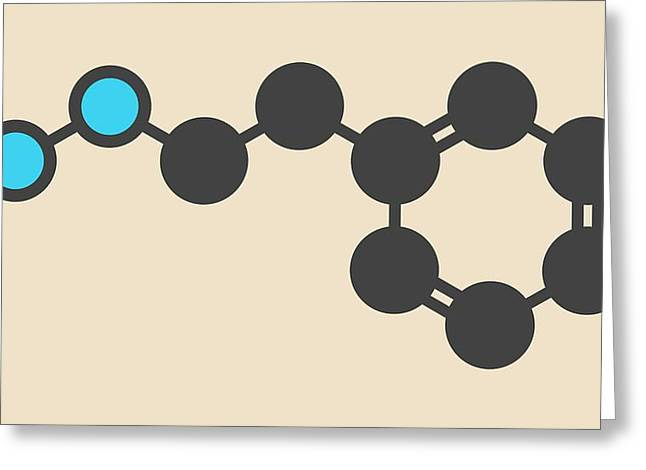Phenelzine Antidepressant Molecule Greeting Card