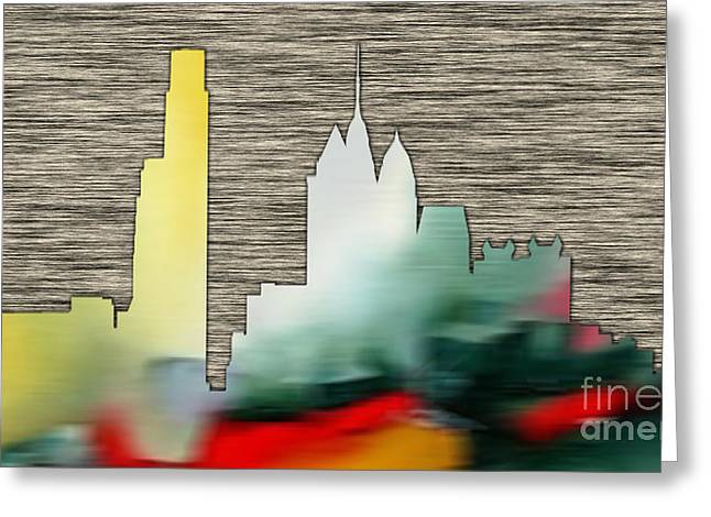 Philadelphia Skyline Greeting Card by Marvin Blaine