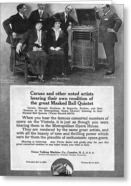 Phonograph, 1914 Greeting Card by Granger
