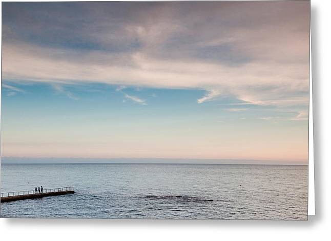 Pier Fishing, Lighthouse Beach, Sochi Greeting Card by Panoramic Images