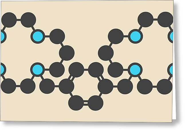 Plerixafor Cancer Drug Molecule Greeting Card by Molekuul
