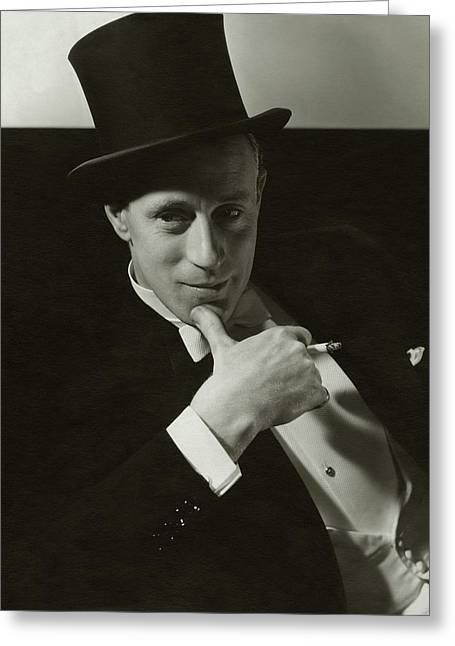 Portrait Of Leslie Howard Greeting Card by Edward Steichen