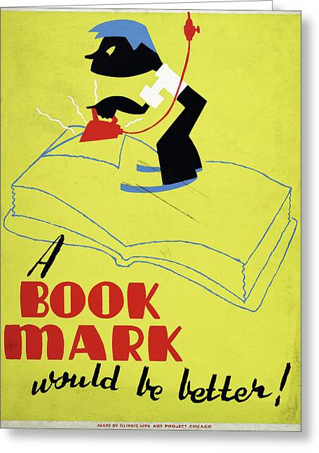 Poster Books, C1938 Greeting Card by Granger