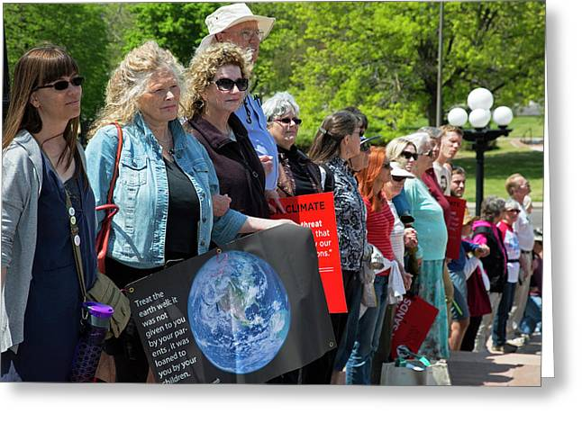 Protest Against Keystone Xl Pipeline Greeting Card