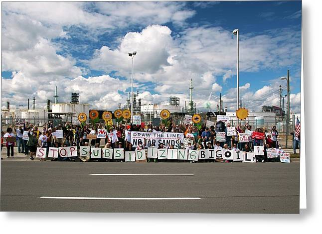 Protest Against Tar Sands Greeting Card