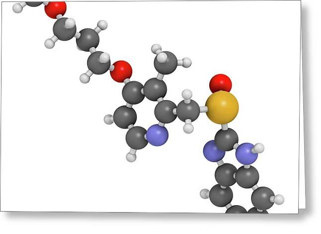 Rabeprazole Gastric Ulcer Drug Molecule Greeting Card