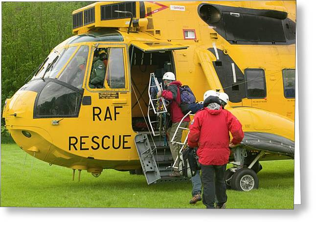Raf Sea King Helicopter Greeting Card