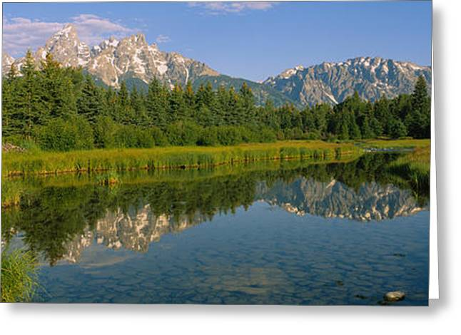 Reflection Of A Mountain In A Lake Greeting Card