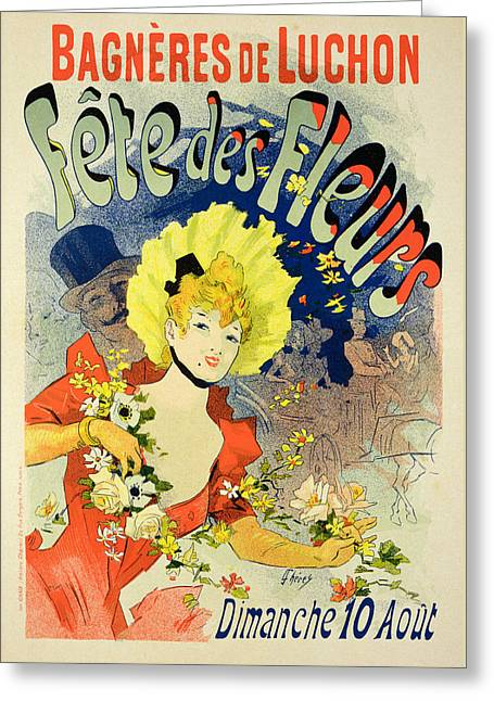Reproduction Of A Poster Advertising Greeting Card by Jules Cheret
