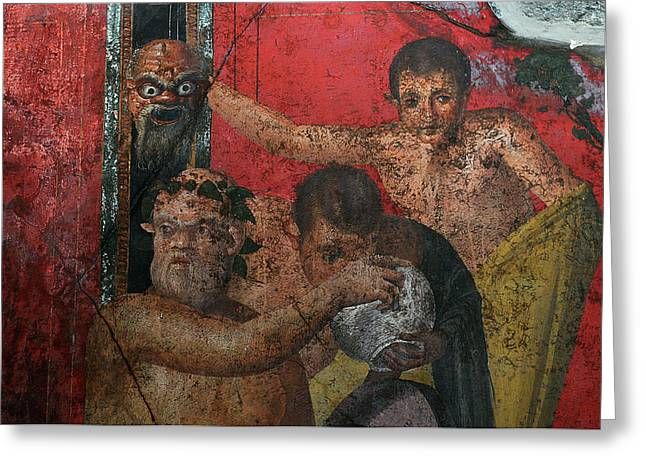 Restoration Of Roman Frescoes Greeting Card by Pasquale Sorrentino
