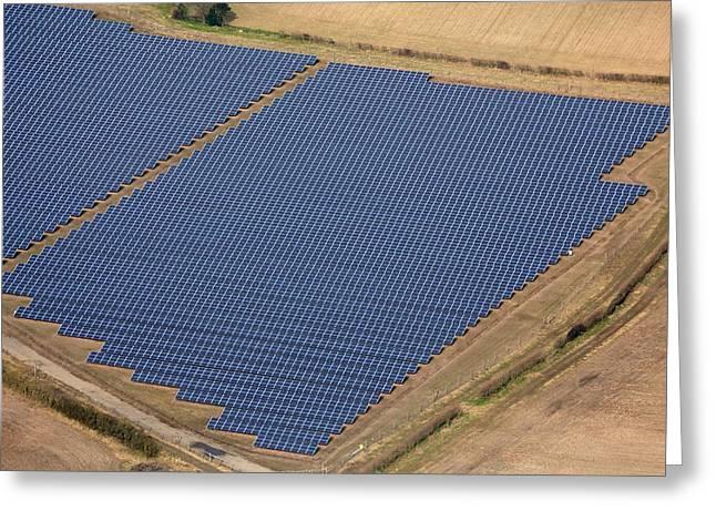Reydon Solar Farm Greeting Card