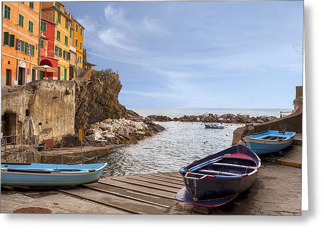 Riomaggiore Greeting Card by Joana Kruse