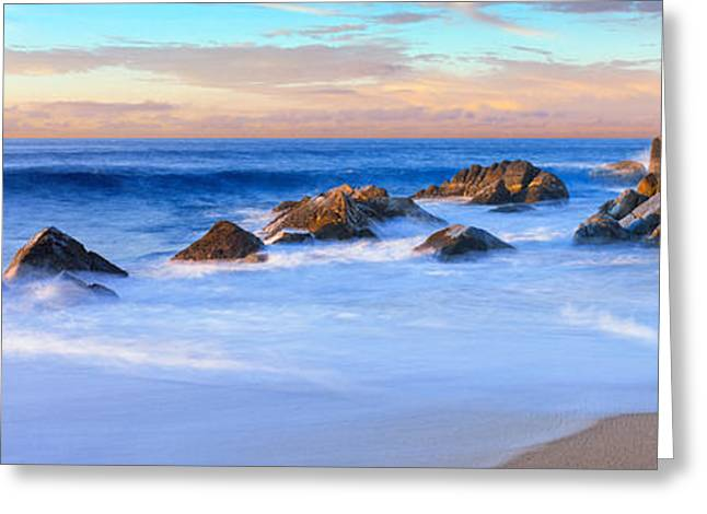 California Beach Greeting Cards - Rock Formations On The Beach Greeting Card by Panoramic Images