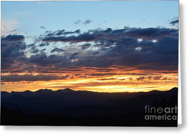 Greeting Card featuring the photograph Rocky Mountain Sunset by Kate Avery