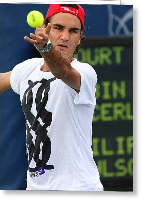 Roger Federer Greeting Card by James Marvin Phelps