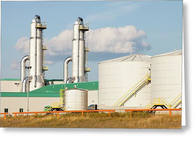 Sag D Tar Sands Plant Greeting Card by Ashley Cooper