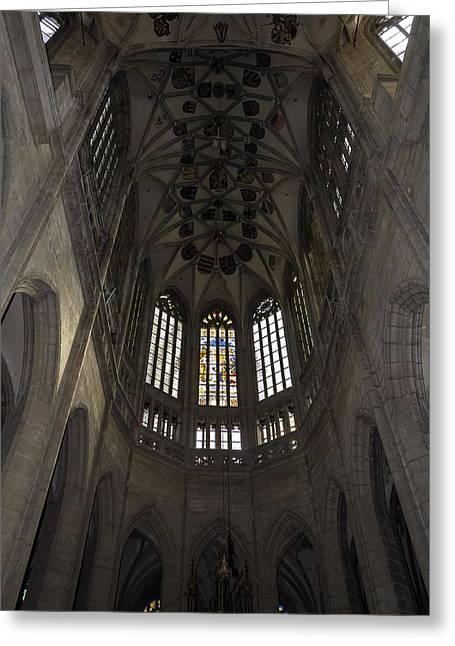 Saint Barbara's Church. Greeting Card by Fernando Barozza