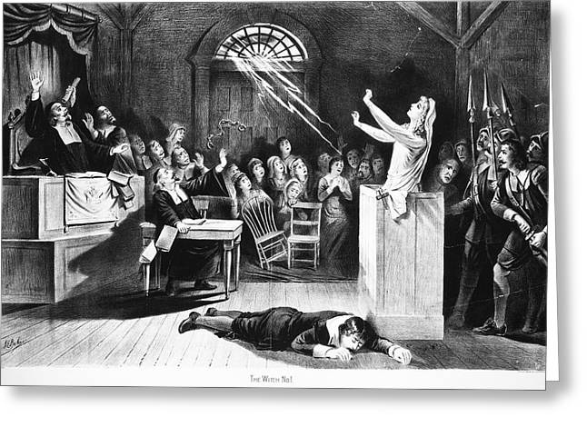 Salem Witch Trial, 1692 Greeting Card