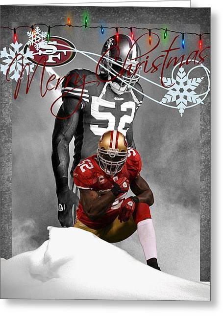 San Francisco 49ers Christmas Card Greeting Card