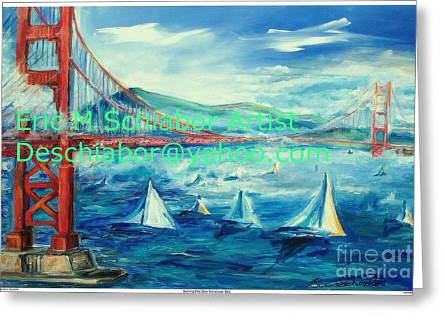 San Francisco Golden Gate Bridge Greeting Card by Eric  Schiabor