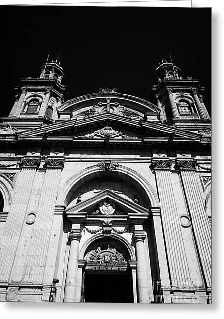 Santiago Metropolitan Cathedral Chile Greeting Card by Joe Fox