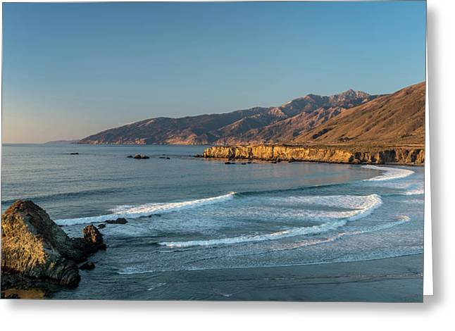 Scenic View Of Sand Dollar Beach Greeting Card