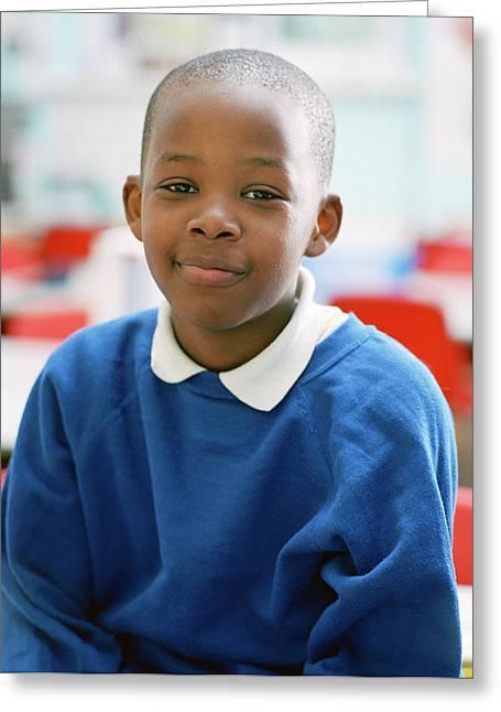 Schoolboy Greeting Card