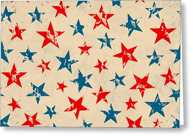 Seamless Pattern For 4th Of July Greeting Card by Allies Interactive
