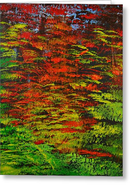 4 Seasons Fall Greeting Card by P Dwain Morris