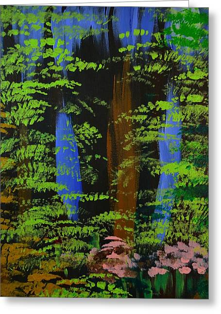 Greeting Card featuring the painting 4 Seasons Spring by P Dwain Morris