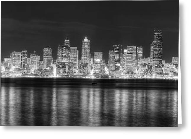 Seattle Skyline Greeting Card by Twenty Two North Photography