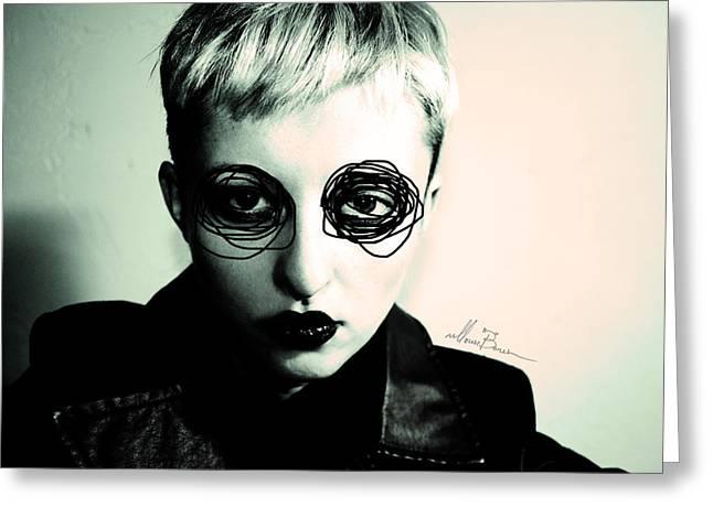 Self Portrait Greeting Card by Masha  Vereshchenko