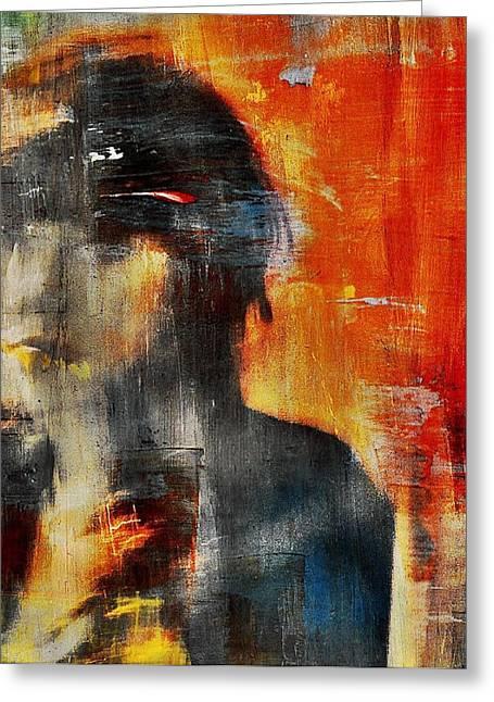 Shadows (portrait) Greeting Card by Dalibor Davidovic