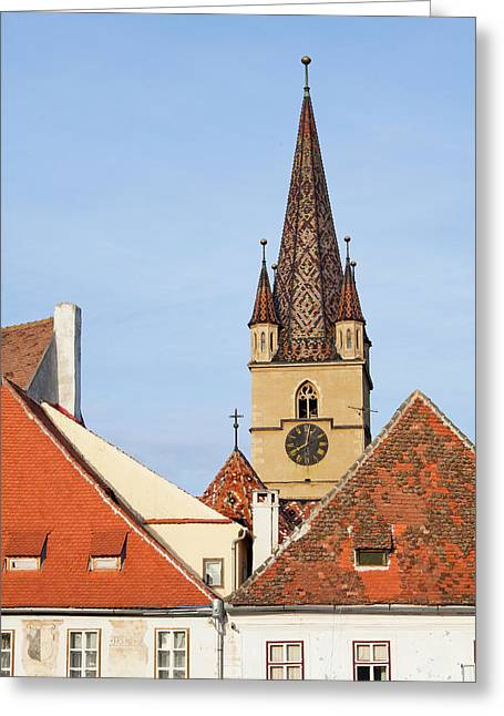 Sibiu, Hermannstadt In Transylvania Greeting Card by Martin Zwick