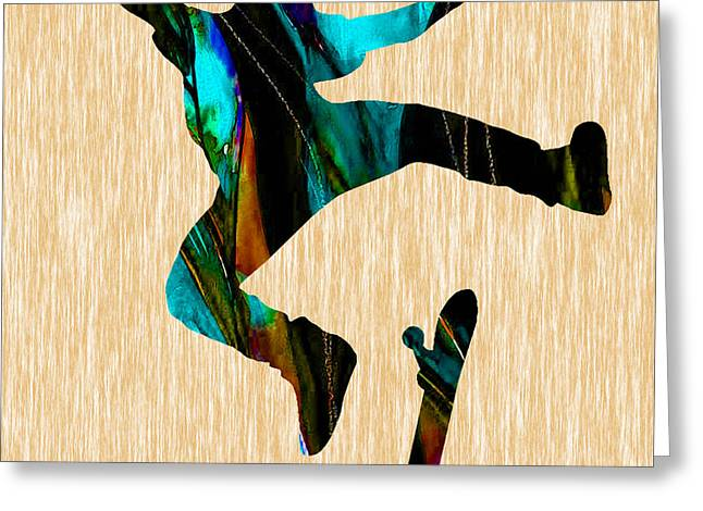 Skateboarder Greeting Card by Marvin Blaine