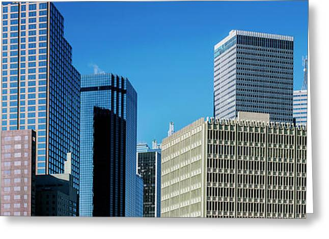 Skyscrapers In A City, Dallas, Texas Greeting Card