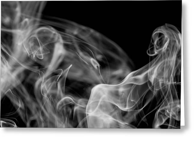 Smoke Greeting Card by Marek Poplawski