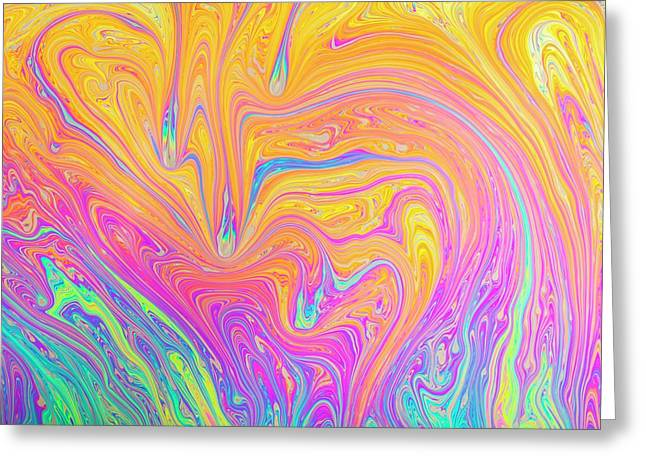 Soap Bubble Film Iridescence Greeting Card by Kym Cox