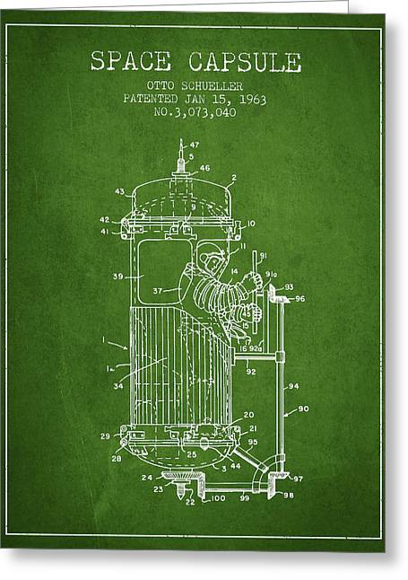 Space Capsule Patent From 1963 Greeting Card