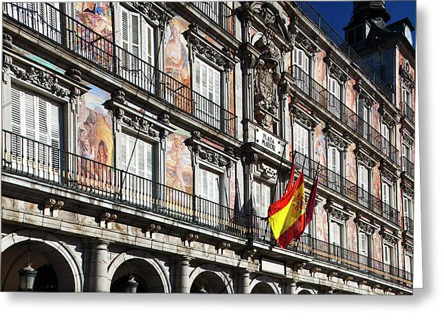 Spain, Madrid, Centro Area, Plaza Greeting Card