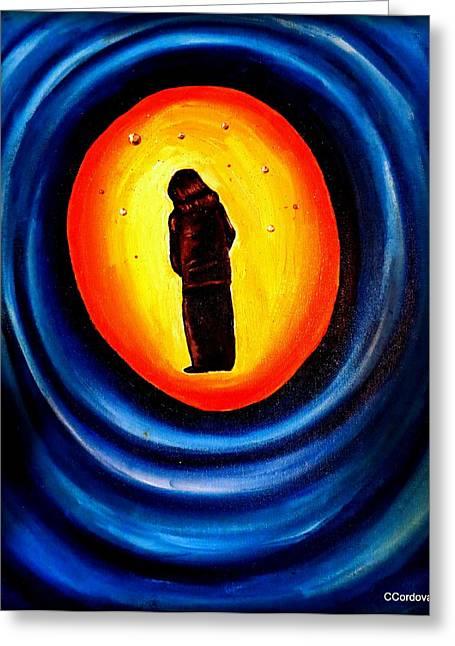 Spiritual Journey-1 Greeting Card by Carmen Cordova