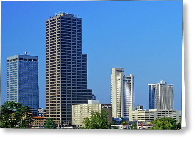 State Capital And Skyline In Little Greeting Card