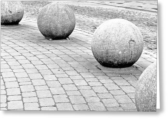 Stone Balls Greeting Card by Tom Gowanlock