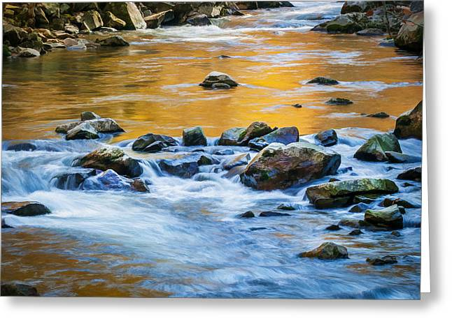 Stream Great Smoky Mountains Painted Greeting Card by Rich Franco