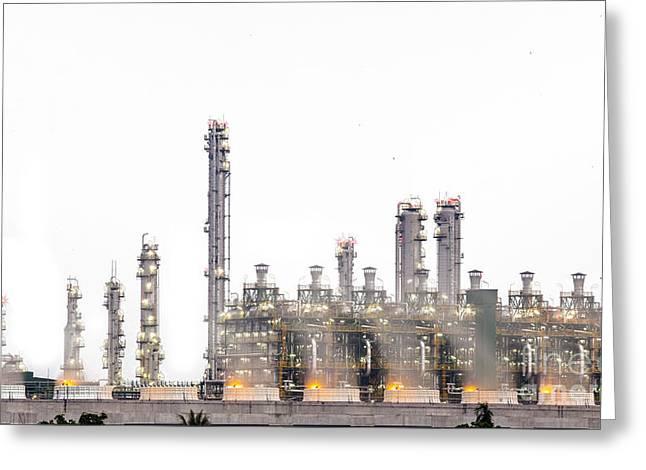Stream Power Plant  Greeting Card by Anek Suwannaphoom