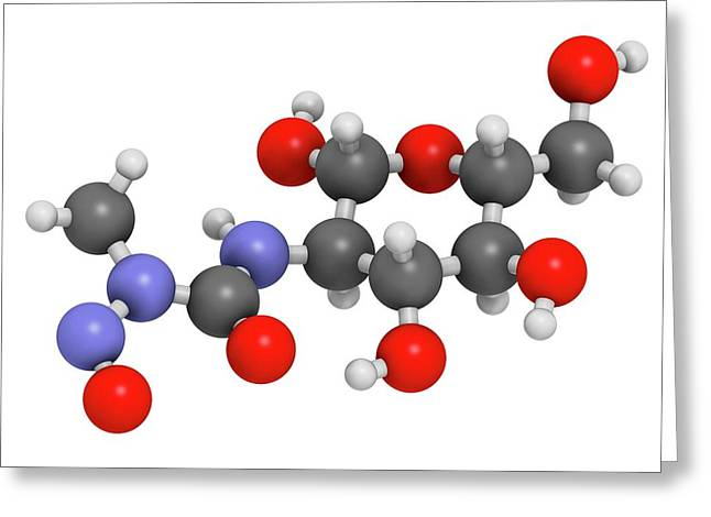 Streptozotocin Cancer Drug Molecule Greeting Card by Molekuul