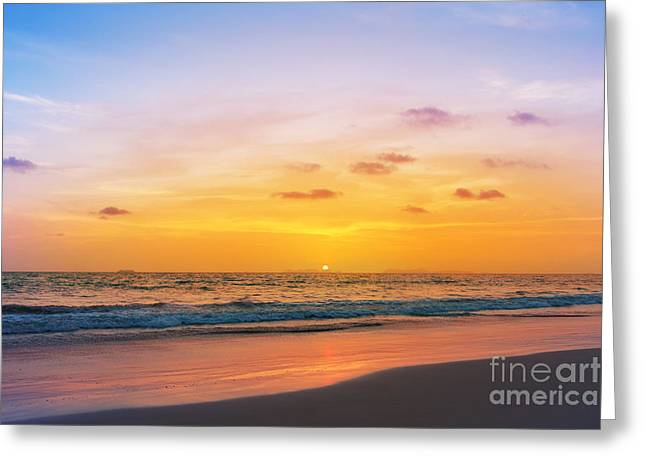 Sunset On Phiphi Island Greeting Card
