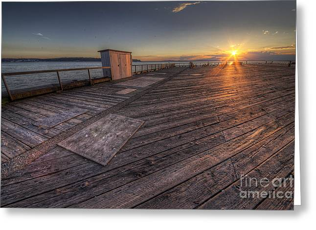 Sunset Over Puget Sound Greeting Card by Twenty Two North Photography
