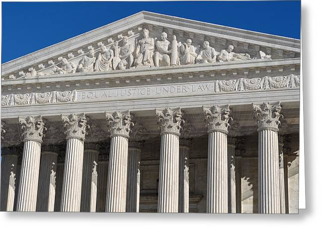 Supreme Court Of The United States Of America Greeting Card by Brandon Bourdages